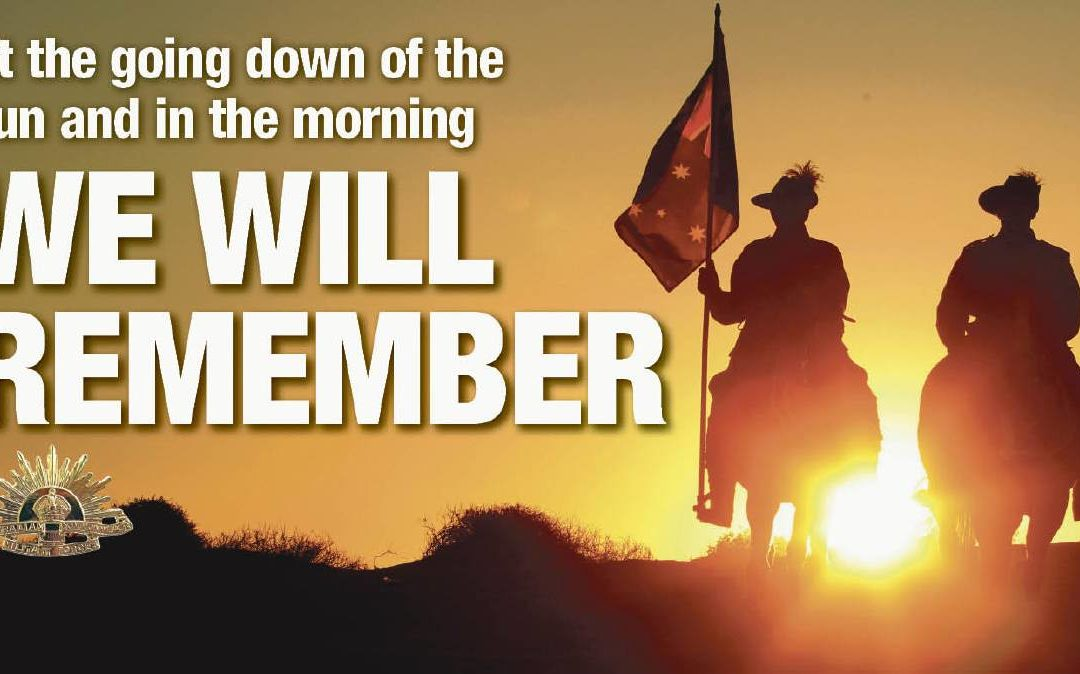 ANZAC Day  – Open from 1pm onwards